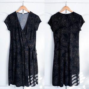 Merona Floral Wrap Style Dress